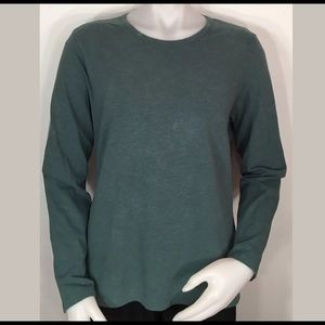 L.L. Bean Women's Large Teal Long Sleeve Shirt